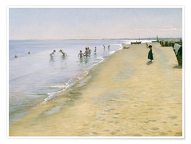 Poster  Summer Day at the South Beach of Skagen - Peder Severin Kroyer