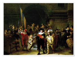 Premium poster  The Night Watch - Rembrandt van Rijn