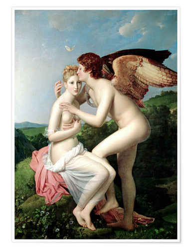 Premium poster Psyche Receiving the First Kiss of Cupid