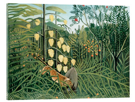 Acrylic print  Tiger attacks a buffalo - Henri Rousseau