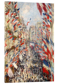 Acrylic print  Rue Montorgueil, celebrations June 30 - Claude Monet
