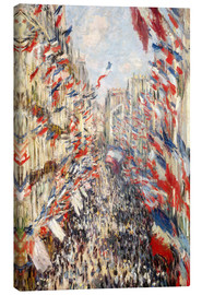 Canvas print  Rue Montorgueil, Celebrations June 30 - Claude Monet