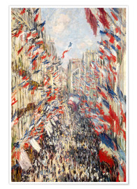 Premium poster  Rue Montorgueil, Celebrations June 30 - Claude Monet