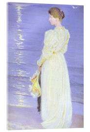 Acrylic print  Woman in White on a Beach - Peder Severin Krøyer