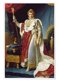 Premium poster Napoleon I in his coronation robe