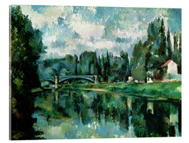 Acrylic print  The Banks of the Marne at Creteil - Paul Cézanne