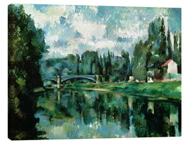 Canvas  The Banks of the Marne at Creteil - Paul Cézanne