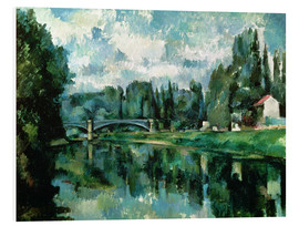 Foam board print  The Banks of the Marne at Creteil - Paul Cézanne