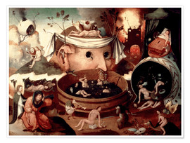 Premium poster  Tondal's Vision - Hieronymus Bosch