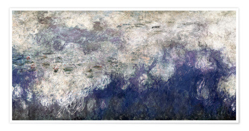 Premium poster Waterlilies panel B