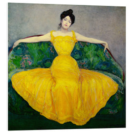 Foam board print  Lady in a yellow dress - Maximilian Kurzweil