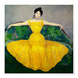 Premium poster  Lady in a yellow dress - Maximilian Kurzweil
