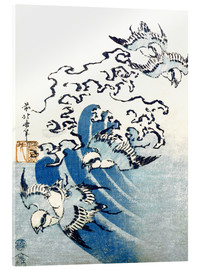 Acrylic print  Waves and Birds - Katsushika Hokusai
