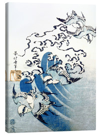 Canvas print  Waves and Birds - Katsushika Hokusai