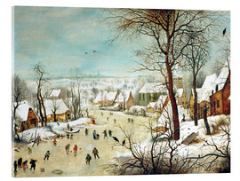 Acrylic glass  Winter Landscape with bird trap - Pieter Brueghel d.Ä.