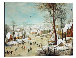 Aluminium print  Winter Landscape with bird trap - Pieter Brueghel d.Ä.