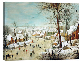 Canvas print  Winter Landscape with bird trap - Pieter Brueghel d.Ä.