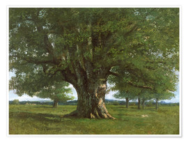 Premium poster  The Oak of Flagey - Gustave Courbet