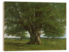 Wood print  The Oak of Flagey - Gustave Courbet