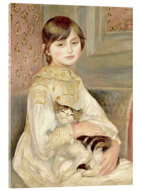 Acrylic print  Julie Manet with Cat - Pierre-Auguste Renoir