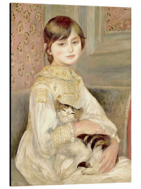 Aluminium print  Julie Manet with Cat - Pierre-Auguste Renoir