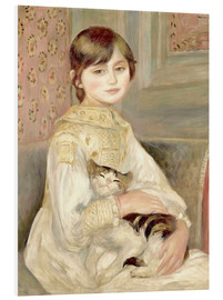 Foam board print  Julie Manet with Cat - Pierre-Auguste Renoir