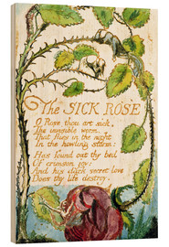 Wood print  The Sick Rose - William Blake