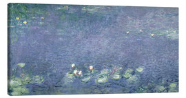 Canvas print  Waterlilies: Morning - Claude Monet