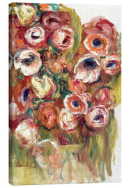 Canvas print  Flowers in a greenhouse - Pierre-Auguste Renoir