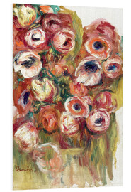 Foam board print  Flowers in a greenhouse - Pierre-Auguste Renoir
