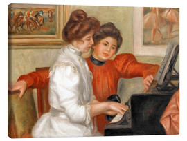 Canvas print  Yvonne and Christine Lerolle at the piano - Pierre-Auguste Renoir