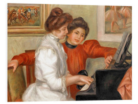 Foam board print  Yvonne and Christine Lerolle at the piano - Pierre-Auguste Renoir