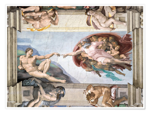 Premium poster Sistine Chapel: The Creation of Adam