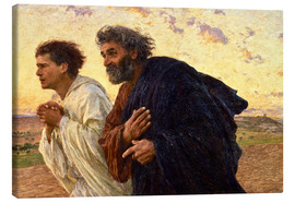 Canvas  The disciples Peter and John - Eugene Burnand