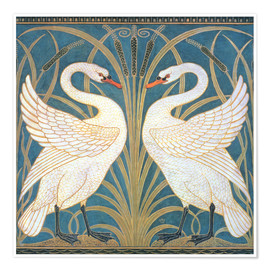 Poster  Swan, Rush and Iris - Walter Crane