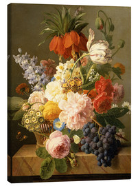 Canvas print  Still Life with Flowers and Fruit - Jan Frans van Dael