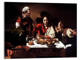 Acrylic print  The Supper at Emmaus - Michelangelo Merisi (Caravaggio)