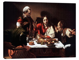 Canvas print  The Supper at Emmaus - Michelangelo Merisi (Caravaggio)