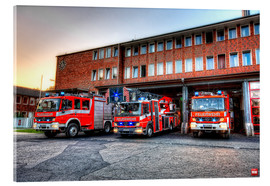 Acrylic print  Fire station in Germany - Markus Will