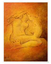 Premium poster  Flaming passion, couple in love - Marita Zacharias