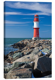 Canvas print  Lighthouse on the Baltic Sea coast in Warnemuende (Germany) - Rico Ködder