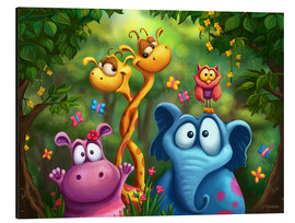 Alu-Dibond  Jungle animals - Tooshtoosh