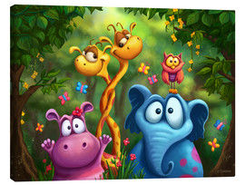 Canvas print  Jungle animals - Tooshtoosh
