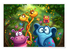 Poster  Jungle animals - Tooshtoosh