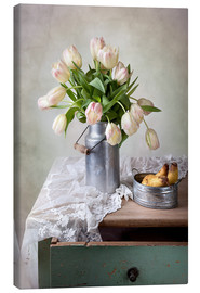 Canvas  Still life with tulips - Nailia Schwarz