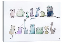 Canvas print  Cats - artill