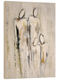 Wood print  family - Christin Lamade