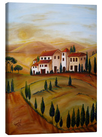 Canvas print  Sunrise in Tuscany - Christine Huwer