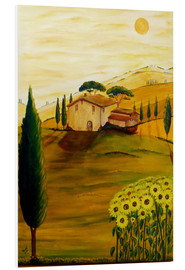 Foam board print  Sunflowers in Tuscany - Christine Huwer