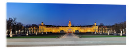 Acrylic print  Panoramic view of palace Karlsruhe Germany - Fine Art Images